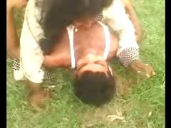 desi indian large boob aunty captured outdoor