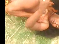 desi indian big boob aunty captured outdoor part 2