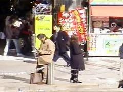 japanese humiliation - public facial cum walk