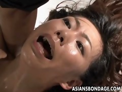 japanese drilled by a large sex-toy slavery