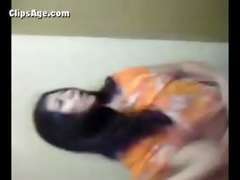 pretty desi lady giving a striptease show taking