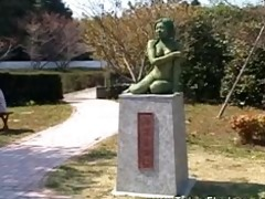 bare oriental cutie statue comes alive