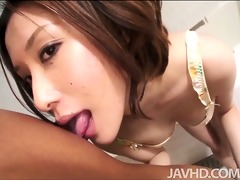 ravishing emi orihara in the bathroom on her