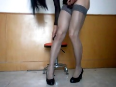 dilettante oriental hot tranny - large toy anal