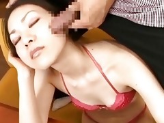 japanese av model has cum oozing out