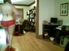 plump non-professional dancing and teasing