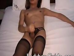 captivating thai ladyboy rocks her hard rod 9
