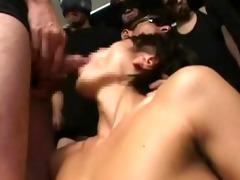 oriental boyz cum eating