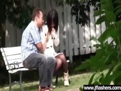 flasher sexy japanese hotty acquire gangbanged