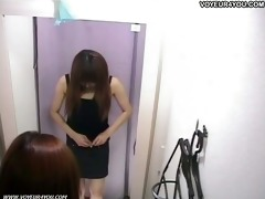 fitting room swimsuit changing