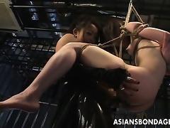 japanese female-dominator bonks her slavegirl