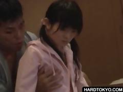 shy japanese getting boob teased