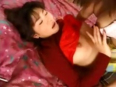 asian lesbo sucks and fucks with a strapon-f87