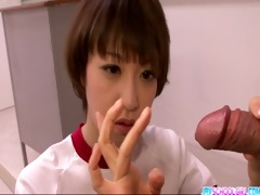 hot akina hara oral-service in cute uniform