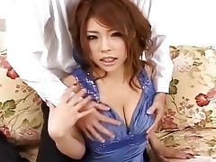 haruka sanadabeautiful oriental doll gets teats