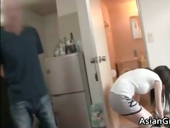 nice-looking face asian rent a girl sucks part9