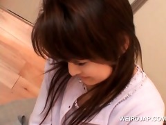 jap redhead giving tugjob and bj for the st time