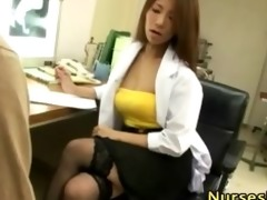 hawt japanese nurse in stockings