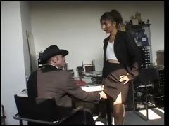 arab slut sucks and copulates in the office