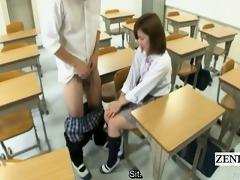 subtitled cfnm japanese schoolgirl tugjob