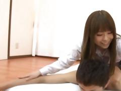 asian schoolgirl taking wang