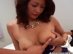 breasty japanese beauty in underware engulfing