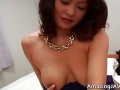 breasty japanese cutie in underware engulfing