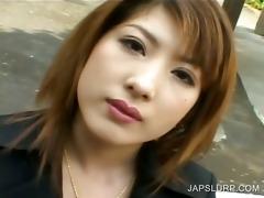 japanese in underware licks a slutty cock