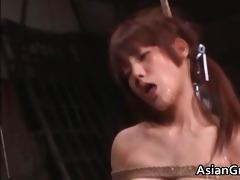 cute oriental playgirl in bondage sex acquires