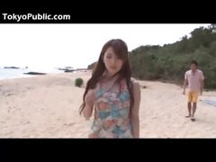 sexy asian beauty outdoor sex on a beach