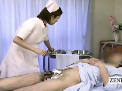 subtitled medical cfnm tugjob ejaculation with