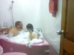 desi bhabhi taking washroom with husbands elder