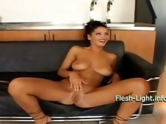 latin chick gal reaching anal agonorgasmos twice