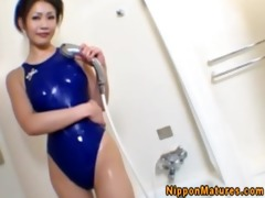 oriental mother i in shower and tit fucking joy