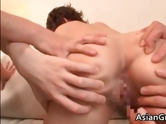 lewd oriental mother i receives facial after