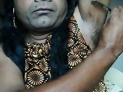 indian hotty shaving armpits hair by strai ...