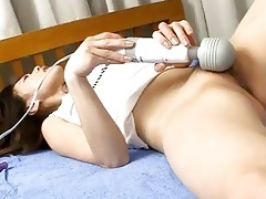 oiled up japanese sweetheart toying