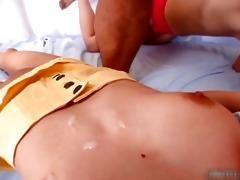 sexy oriental redhead sucking knob with her part8