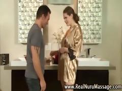 masseuse playgirl shower oral-sex