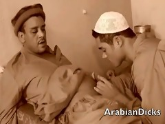 excited arab males