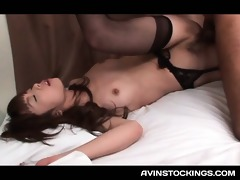japanese honey in hot nylons fur pie smashed to