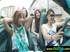 asians japanese beauties acquire nailed in public