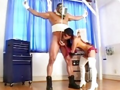 thai dark brown domme likes to play with hard