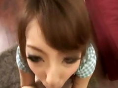 asian schoolmate engulfing petite shlong