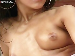super lewd indian babe working on a large part9