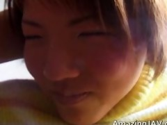 astounding japanese honey likes to be wet crack