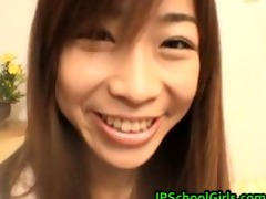 ami hinata pleasant oriental schoolgirl enjoys