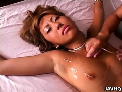 ria nanami oiled up and toyed uncensored