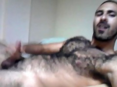 arab - blowing a large load all over my hirsute