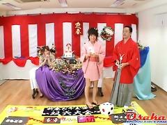 cute japanese teenies at a massage school goes